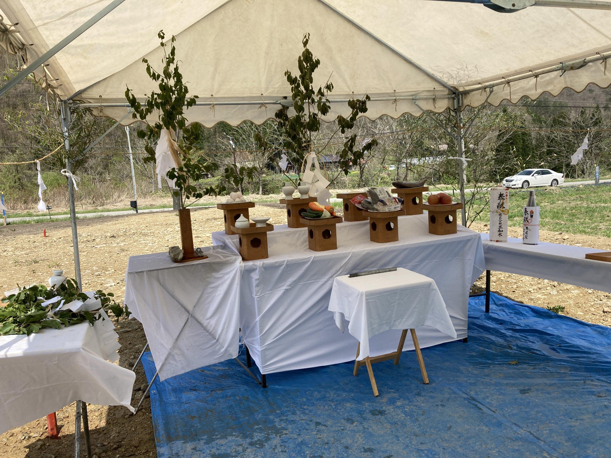 花紅柳緑の家 地鎮祭が執り行われました